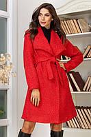 Женское пальто с поясом, фото 1