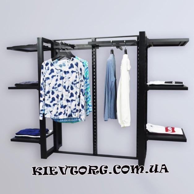 Стойка - вешалка напольная торговая для одежды лофт, оборудование для магазина