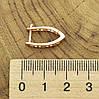 Серьги Xuping 27464 размер 18х3 мм вес 2.0 г позолота 18К, фото 3