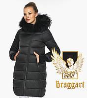 Воздуховик Braggart Angel's Fluff 42150| Черная куртка женская на зиму