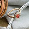 Кольцо Xuping детское 15147 размер 12 ширина 7 мм вес 1.0 г белые и красный фианиты позолота 18К, фото 4