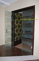 Стеклянные межкомнатные двери маятниковые (в коробке)