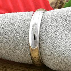 Кольцо обручальное Xuping 14046 ширина 3 мм позолота Белое золото размер 17