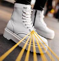 Женские зимние ботинки Dr. Martens JADON белые с мехом 36-40рр. Реальное фото. Топ реплика