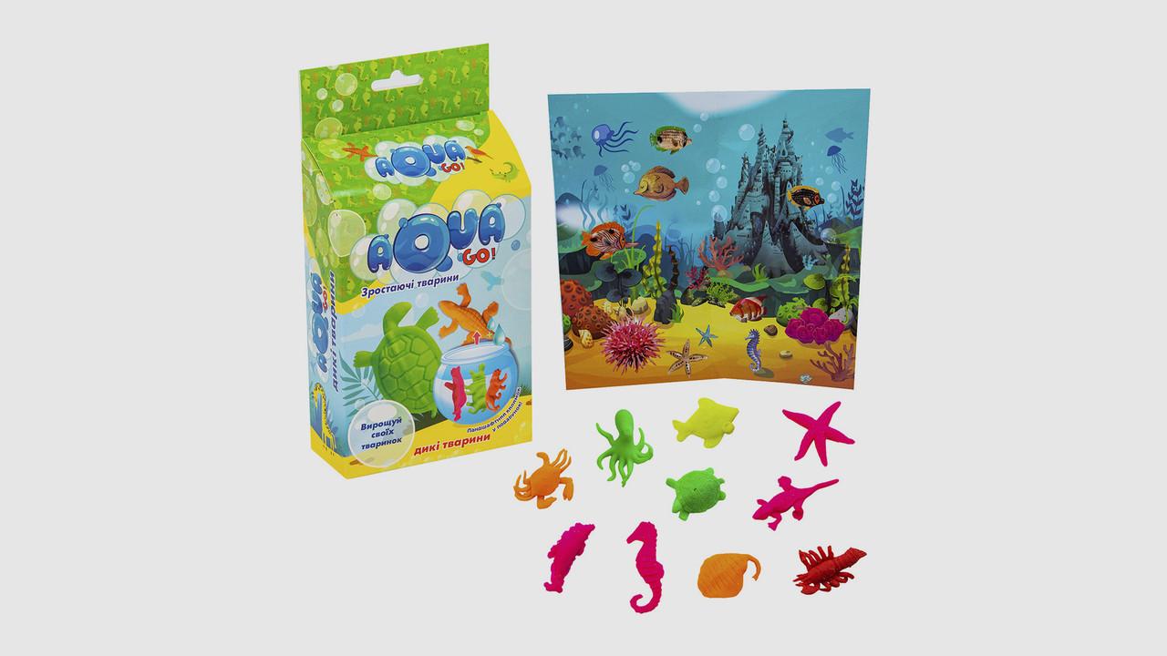 Тактильный набор Aqua Go STRATEG 30256. Дикие животные