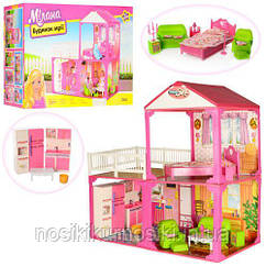 Кукольный домик 6982B для Барби My Lovely Villa - 2 этажа, 3 комнаты, мебель