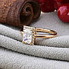 Кольцо Xuping детское 15151 размер 14 ширина 8 мм вес 1.1 г белые фианиты позолота 18К, фото 3