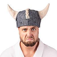 """Банная шапка Luxyart """"Викинг"""" искусственный фетр серый (LA-470)"""