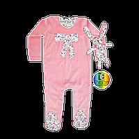 Розовый человечек с игрушкой зайчиком для девочки George