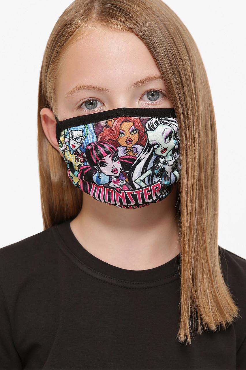 Маска защитная многоразовая  для девочки