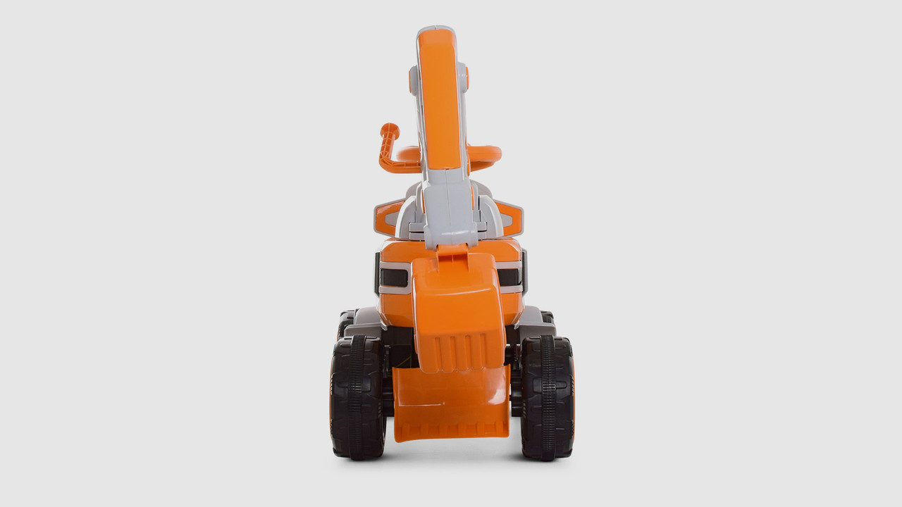 Электрокар трактор экскаватор BAMBI.M4068R-7.Звук.Свет.Оранжевый