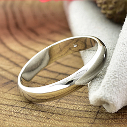Кольцо обручальное Xuping 14046 ширина 3 мм позолота Белое золото размер 15