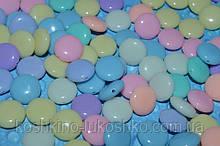 Намистина пастельний у вигляді таблетки акрилова 12 мм