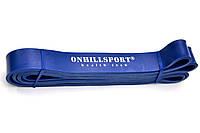 Еспандер-петля Onhillsport POWER BANDS 2080х29х4,5 мм навантаження 14-38 кг синя для тренувань (LP-0003)