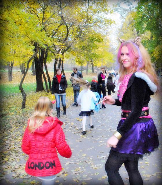 Клоудин Вульф и Дракула на Хелоуин в Киеве