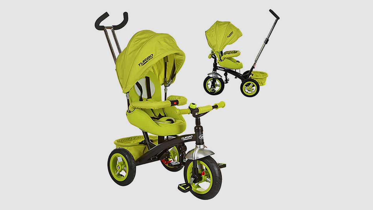 Велосипед трехколесный TURBOTRIKE с функцией поворота сидения. Салатовый