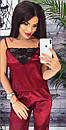 """Красива атласна жіноча піжама """"Єва"""" - розміри S-M і M-L, фото 8"""