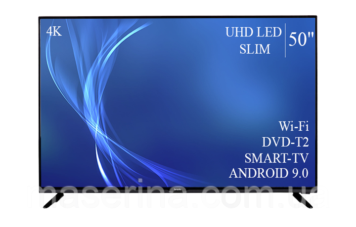 "Технологичный  Телевизор Bravis 50""  Smart-TV ULTRA HD T2 USB Гарантия 1 ГОД!"