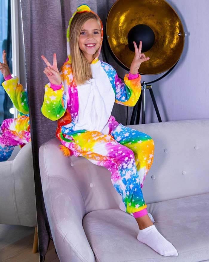 Кигуруми Единорог Космический пижама женская детская