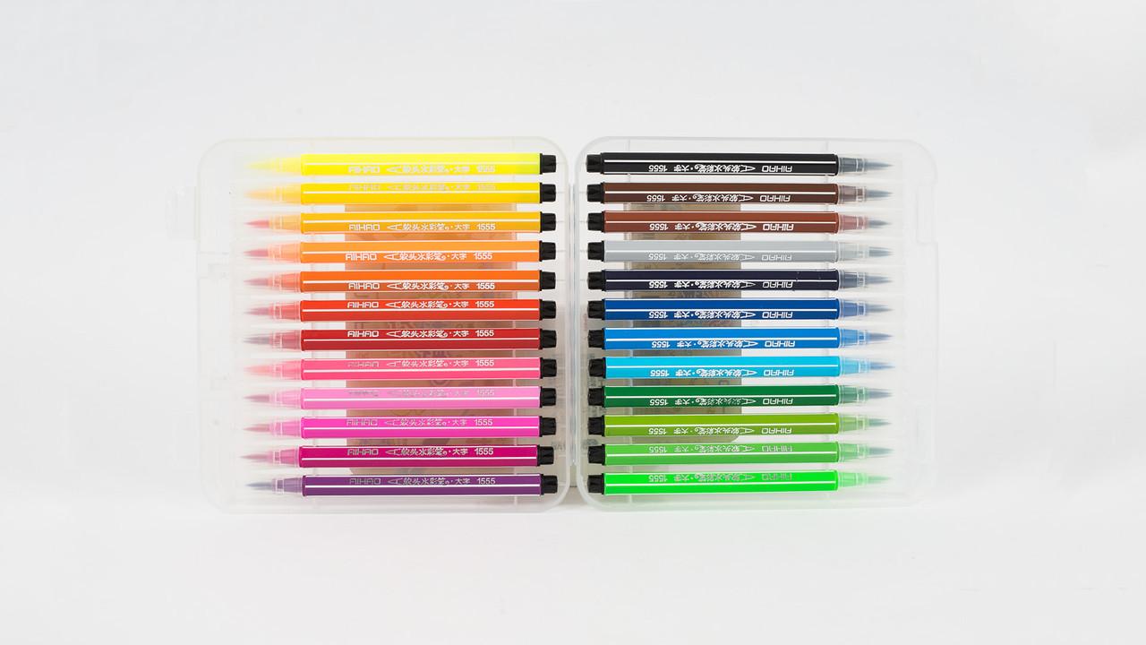 Набор цветных фломастеров для каллиграфии. 24 цвета.AIHAO AH 1555-24