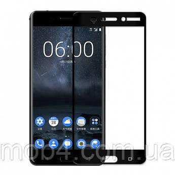 Захисне скло для Nokia 6 (Нокія 6) на весь екран (чорне)