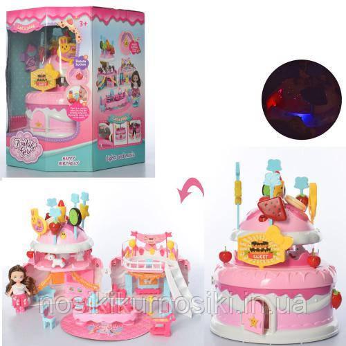 Кукольный домик торт, домик для кукол типа ЛОЛ Lol BLD503