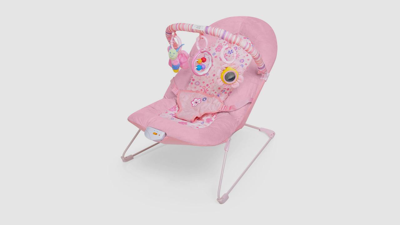 Детский шезлонг. BAMBI 30602. Розовый