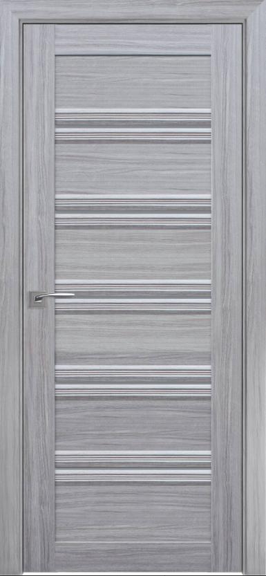 """Двері засклені міжкімнатні новий стиль Італьяно """"Віченца C1 BLK,BR,GRF"""" 60-90 см перли срібний"""