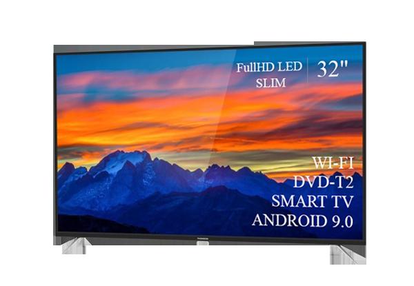"""Сучасний Телевізор THOMSON 32"""" Smart-TV FullHD T2 USB Гарантія 1 РІК! Android 9.0"""