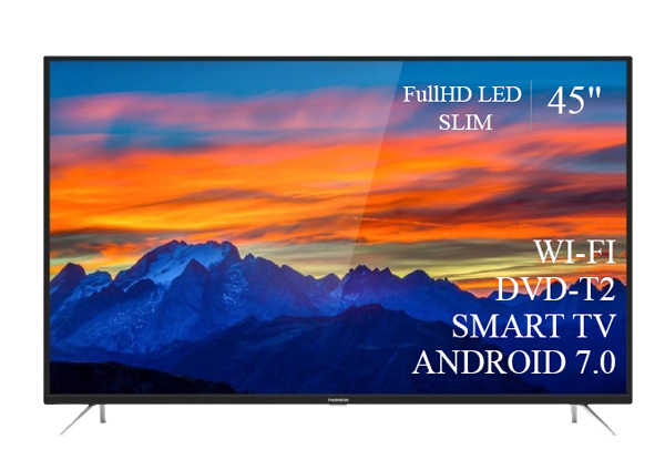 "Современный  Телевизор   THOMSON 45""  Smart-TV FullHD T2 USB Гарантия 1 ГОД! Android 7.0"