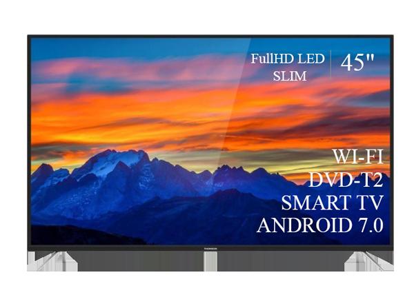 """Сучасний Телевізор THOMSON 45"""" Smart-TV FullHD T2 USB Гарантія 1 РІК! Android 7.0"""