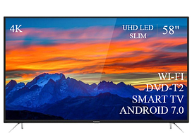 "Современный  Телевизор   THOMSON 58"" Smart-TV/DVB-T2/USB (1920×1080) Android 7.0 4К/UHD"