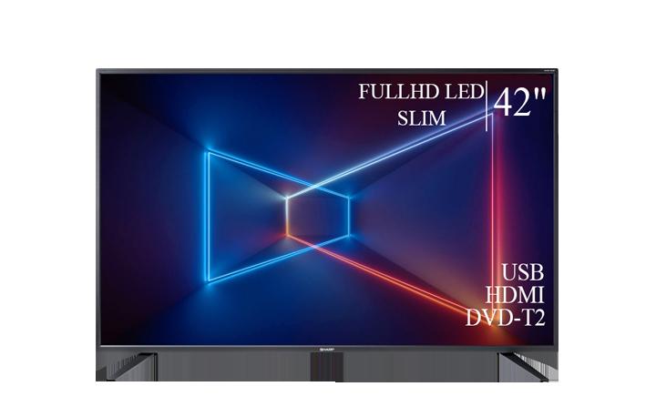 """Сучасний Телевізор Sharp 42"""" FullHD T2 USB Гарантія 1 РІК!"""