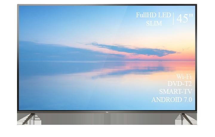 "Современный  Телевизор   TCL 45""  Smart-TV Full HD T2 USB Гарантия 1 ГОД!"