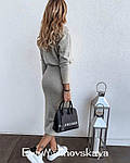 Женский костюм, ангора, р-р 42-44; 44-46 (светло-серый), фото 2
