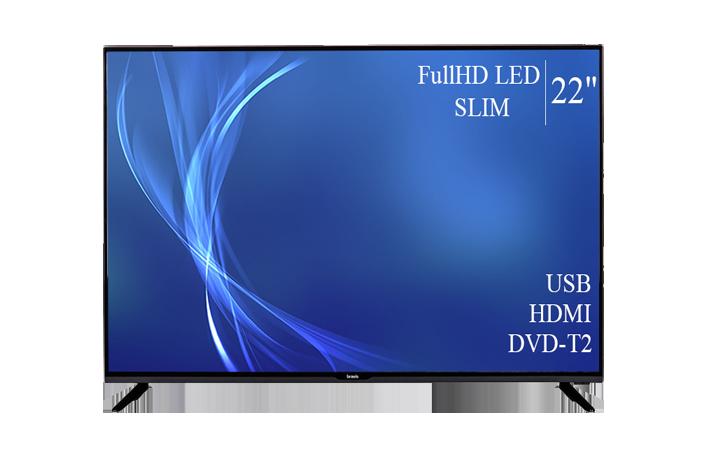 """Современный  Телевизор   Bravis 22"""" FullHD T2 USB Гарантия 1 ГОД!(1080р)"""