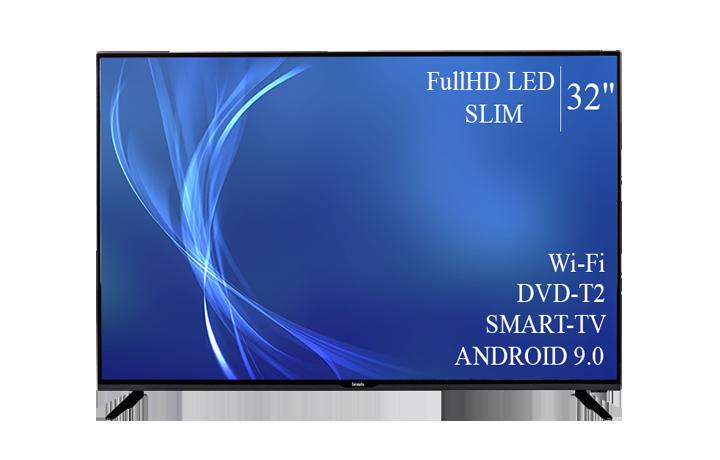 """Современный  Телевизор   Bravis 32"""" Smart-TV FullHD T2 USB Гарантия 1 ГОД!"""
