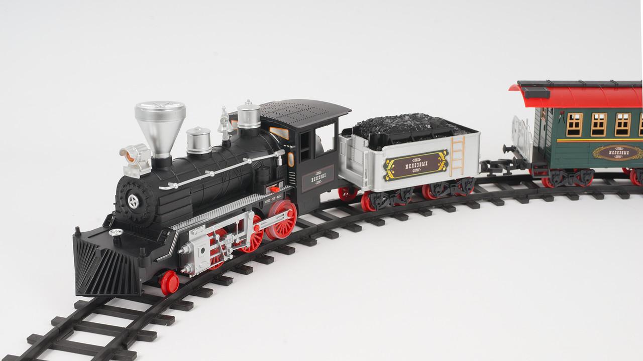 Железная дорога LIMO TOY с дымом. Длина путей 420см. Музыка и свет. На батарейк.