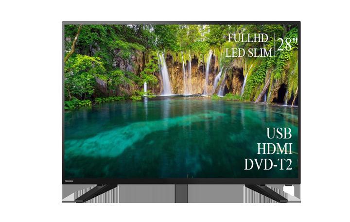 """Современный  Телевизор   Toshiba 28"""" FullHD DVB-T2 USB Гарантия 1 ГОД!"""