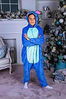 Кигуруми Стич синий пижама женская мужская детская