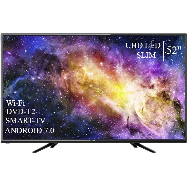 """Сучасний Телевізор Dex 52""""Smart-TV ULTRA HD T2 USB Гарантія 1 РІК"""