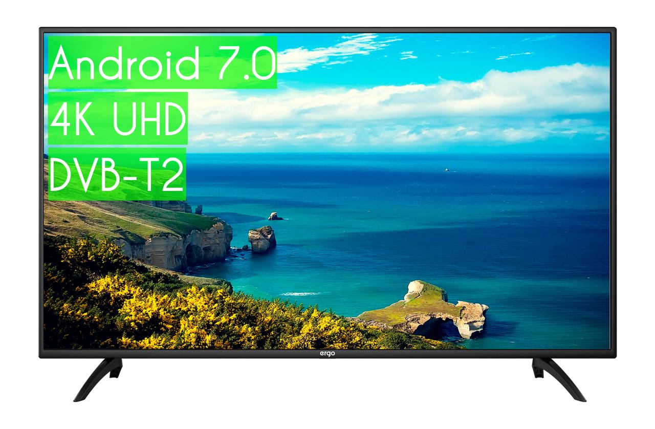 "Сучасний Телевізор Ergo 52"" SmartTV (Android 7.0) + UHD 4K ГАРАНТІЯ!"