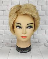 Парик женский блонд короткая стрижка из натуральных волос