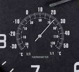 Часы настенные с термометром и гигрометром 45*4,5 см, фото 6
