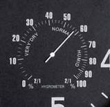 Часы настенные с термометром и гигрометром 45*4,5 см, фото 2