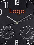 Часы настенные с термометром и гигрометром 45*4,5 см, фото 5