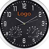 Часы настенные с термометром и гигрометром 45*4,5 см, фото 4