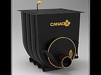 Печь дровяная для дома и дачи, отопительная, булерьян «Canada» с варочной поверхностью «01»