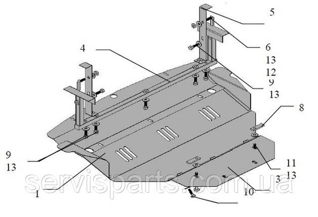 Защита двигателя Infiniti FX 35 (Инфинити), фото 2