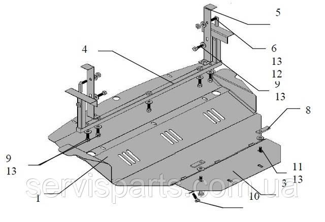 Защита двигателя Infiniti FX 35 (Инфинити)
